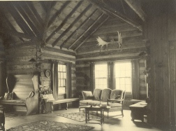 Inside Wahkeena lodge, 1956